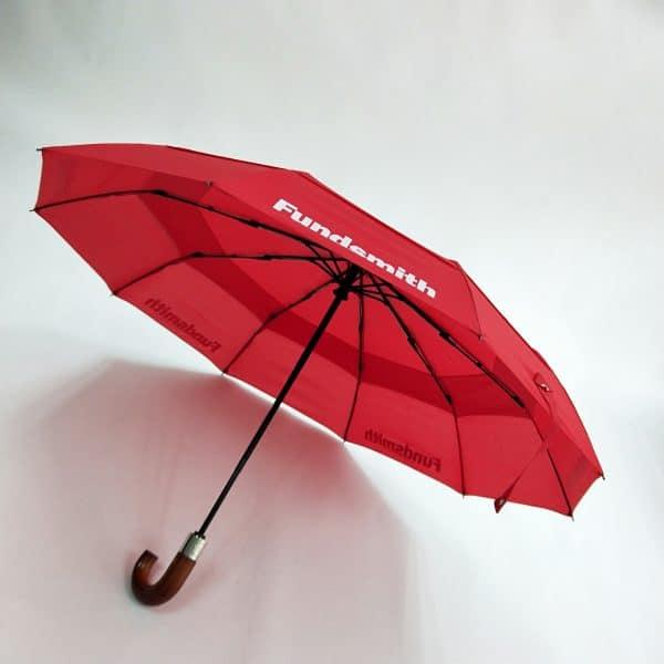 Branded Umbrellas – LoGU Telescopic Fibrestorm Telescopic Umbrellas - Wooden Handle