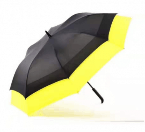 Promotional Umbrellas LoGU Extendable Ribs Auto Fibrestorm golf logo umbrellas - yellow