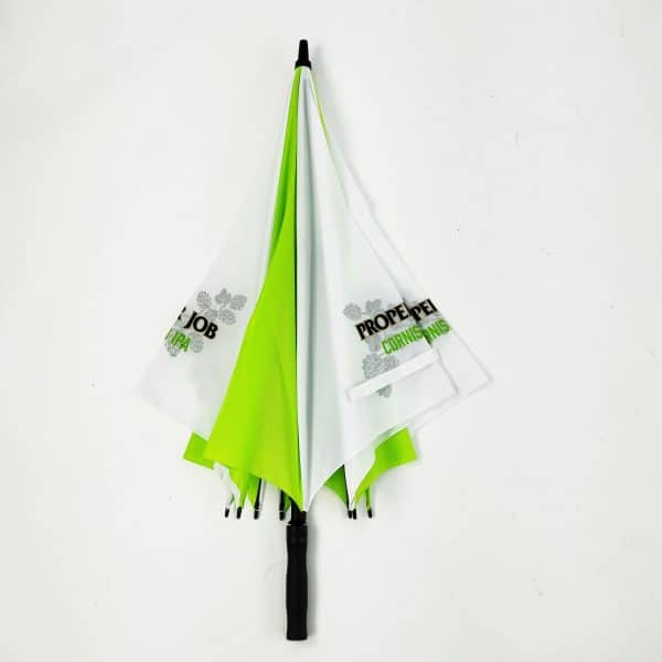 Printed Umbrellas - LoGU Fibreglass Square Golf - Closed