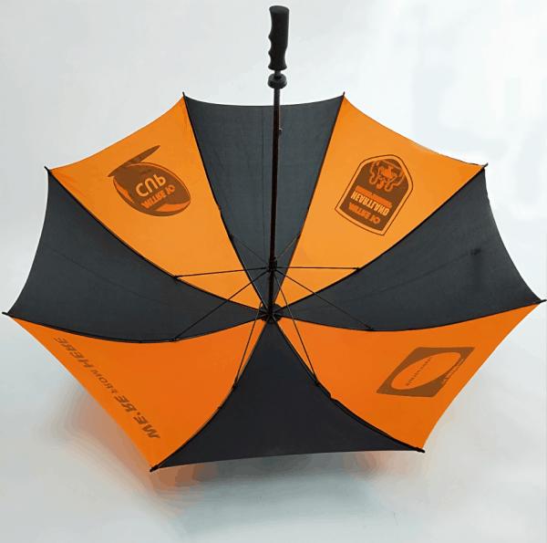 Branded Umbrellas - Fibreglass Golf Umbrella Interior by Logo Umbrellas