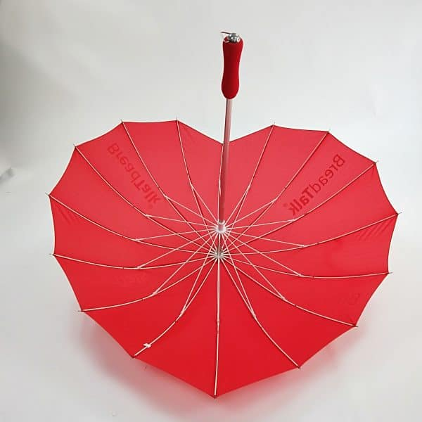 Branded Umbrellas – LoGU Fibrestorm Heart Umbrellas - Interior