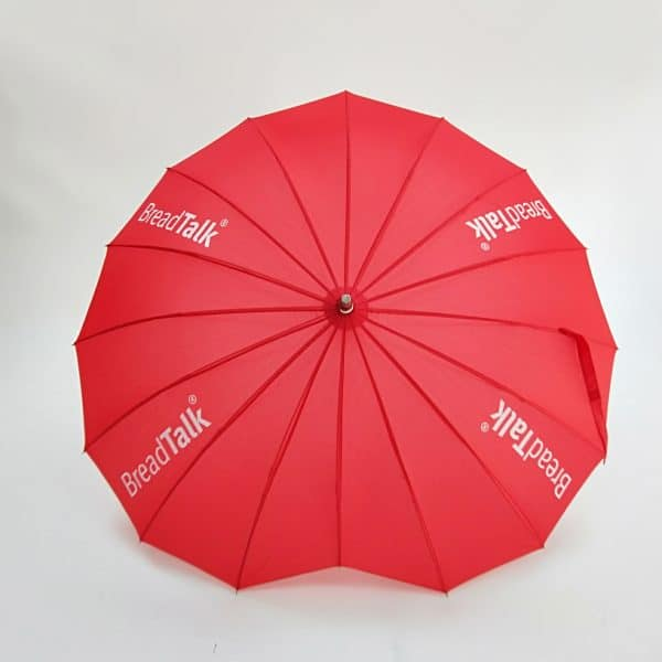 Branded Umbrellas – LoGU Fibrestorm Heart Umbrellas Canopy