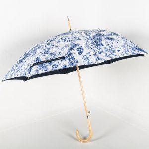 Über Wooden Walker Promotional Umbrella from Umbrellas & Parasols
