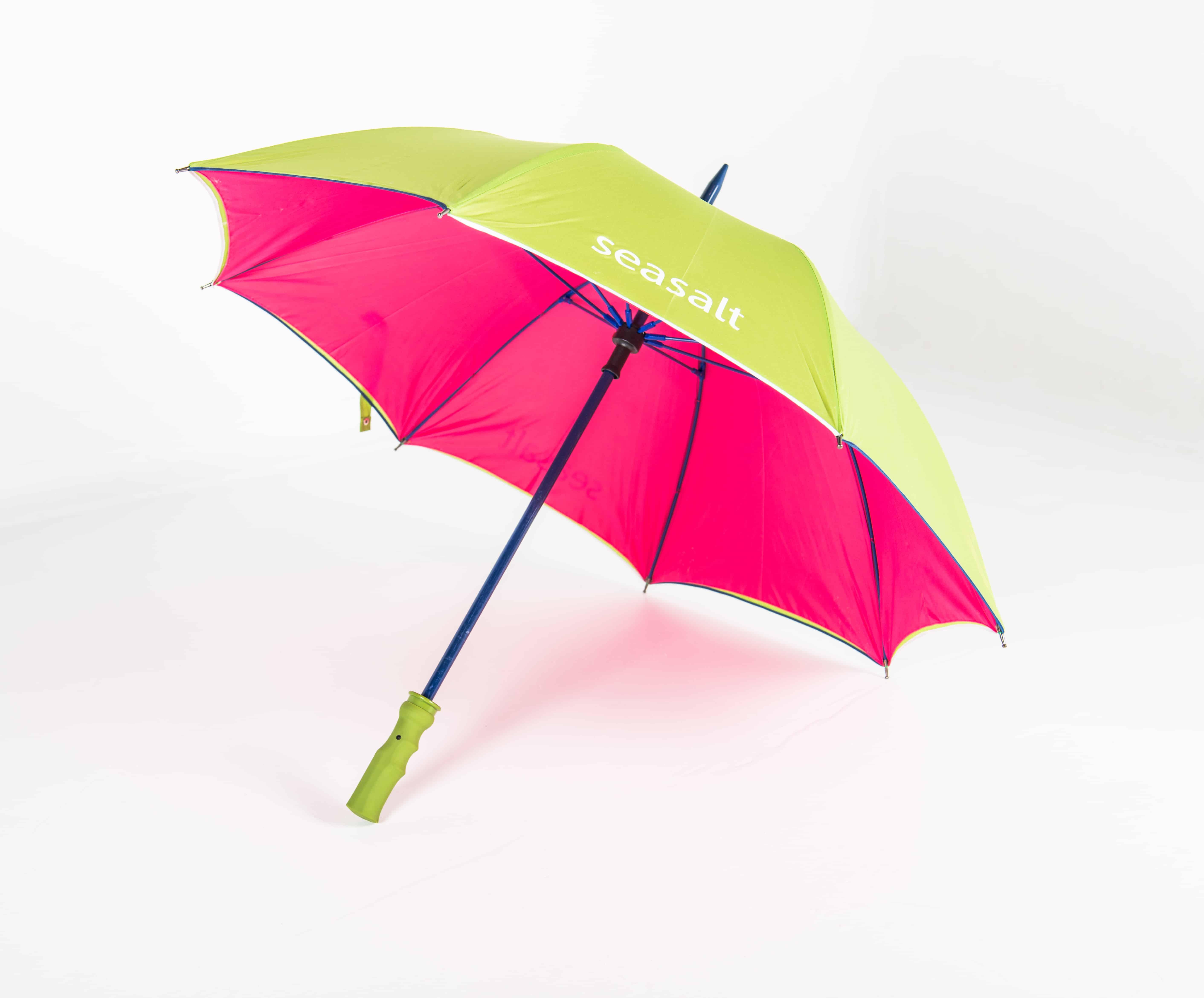 Logo umbrellas with pantone matched frame