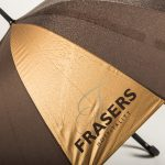 branded umbrellas with raindrops