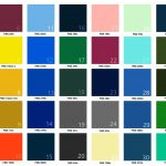 Branded Umbrellas Colour Chart for Logo Umbrellas